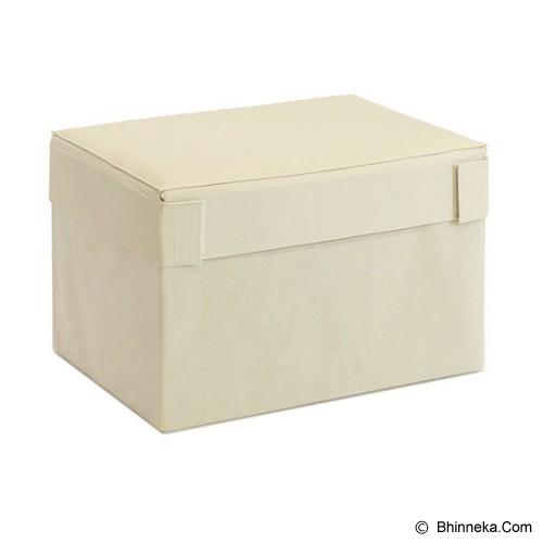 FUNIKA Cube Rectangular Prism Storage Stool [10061R1]  - Ivory - Container